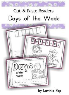 Days of the Week Cut & Paste reader {FREE}. I wanted the blank story, so we could fill-in what Mr. Cutie does during the week. I had to do one page at-a-time, so that the story wouldn't print too. Spencer will love this. :)