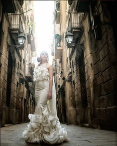Bride dress with Flamenco style order your's today with Mercedes Mestre flamenco fashion designer! Barcelona, Mermaid Wedding, Spain, Bride, Wedding Dresses, Fashion Design, Style, Flamingo, Wedding Bride