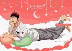 kuroko no basket official arts Cute Anime Boy, I Love Anime, All Anime, Anime Guys, Kuroko No Basket Characters, Dog Comics, Kiseki No Sedai, Digital Art Anime, Kagami Taiga