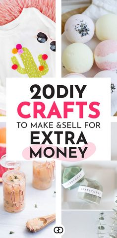 Looking for a creative side hustle? This awesome list of 20 easy things to make and sell online in 2019 can help you to make money on the side. Find the perfect product to make and sell for profit! Make money from home with craft ideas! Earn More Money, Make Money Fast, Ways To Save Money, Make Money From Home, Extra Cash, Extra Money, Crafts To Make And Sell, Crafts For Kids, What To Sell Online