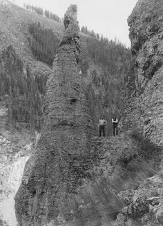 """Montana's Maiden Rock 2/5/2016 1 Comment   """"Standing guard at the mouth of Bridger Canyon,"""" Annabelle Phillips wrote in the Bozeman Daily Chronicle on November 21, 1965, """"is a stately pinnacle of rock.""""   It's called Maiden Rock and the people of the """"Valley of the Flowers"""" know it well. They were the first there, where Montana Highway 293 now passes by, """"a few hundred yards north and east of the U.S. Fish Hatchery Site."""""""