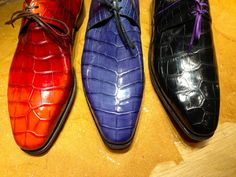 Multiple Colors of Crocodile Lace Shoes