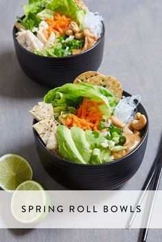 Forget Ramen--We're Eating Spring Roll Bowls via @PureWow via @PureWow