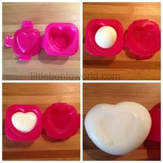 Egg Molds, Bento Box, Box Design, Heart Shapes, Valentines Day, Eggs, Notes, Molde, Valentine's Day Diy