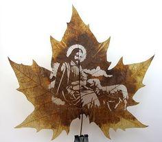 Beautiful Art: Cool Leaf Carving Artwork