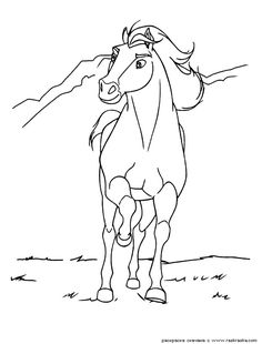 Horse Coloring Page 09 For Kids And Adults From Mammals Pages