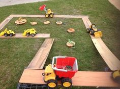 "Trucks, dinosaurs & ramps at St Helens District High School Kindergarten ("",) - Modern"