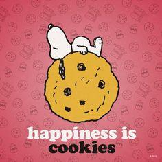 A felicidade é biscoito.