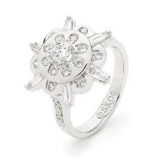"""www.eskaejeweller.com.au  18ct white gold """"Snowflake Ring"""". I remodelled my clients original engagement ring along with another ring she had and turned it into something she had always wanted as a ring design. We used her original diamonds and the result was unreal!"""