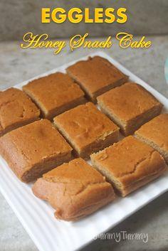 Eggless Honey Snack Cake Recipe - Cake Recipes for Toddler