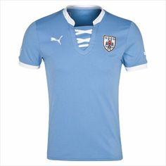 fcebb3264ac5b Men s 2013 Uruguay Blue Home Soccer Jersey Camisetas de Fútbol 820103337403  on eBid United States Casacas