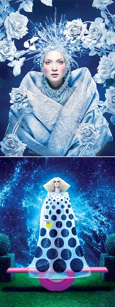 """Splash Calendar 2015 """"Zodiac Signs"""" By tejal patni Lizzy Is A Sea Punk Mer women beauty and make up Snow Queen, Ice Queen, Fashion Photography Inspiration, Editorial Photography, Style Inspiration, Fashion Art, Editorial Fashion, Collage, New Wave"""
