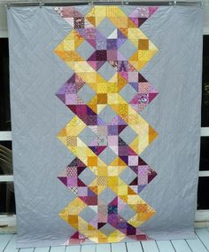 alidiza: June 2017 this is the Helix pattern by the Tulip Patch Quilt Patterns, Quilting Ideas, Jellyroll Quilts, Half Square Triangles, Graduation Gifts, Patches, Arts And Crafts, Wraps, Blanket