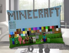 Minecraft Pillow Case Throw Cover Bedding Bed One Side Two Sides Size Minecraft Pillow, Minecraft Room, Minecraft Party, Minecraft Quotes, Minecraft Classroom, Minecraft Stuff, Minecraft Christmas, Minecraft Creations, Boy Room