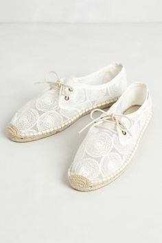 embroidered espadrille lace-ups / anthropologie