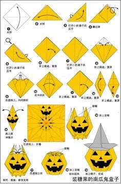 Sensational 71 Best Halloween Origami Images Origami Animals Origami Cat Wiring Database Wedabyuccorg