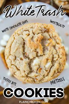 Candy Cookies, Yummy Cookies, Chip Cookies, Heath Bar Cookies, Turtle Cookies, Köstliche Desserts, Delicious Desserts, Dessert Recipes, Easy Cookie Recipes