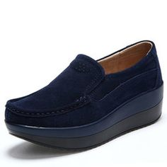 1adf9f732723c Women Suede Flat Platform Shoes Loafers Loafer Sneakers