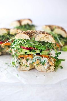 summer sandwiches chickpea