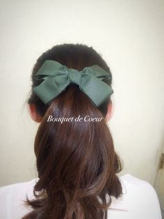 ハンドメイド リボンヘアゴム♡ 秋らしい落ち着いたカラーがオシャレ♡ ブラウン、モスグリーン、バイカラーの3種類  http://s.ameblo.jp/bouquet-de-coeur/  Handmade ribbon hair accessory! Green, brown and mix!