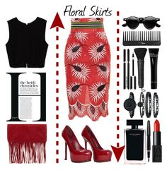 """""""Floral Skirts"""" by emcf3548 ❤ liked on Polyvore featuring moda, Stella Jean, Zara, Accessorize, Yves Saint Laurent, Narciso Rodriguez, Anne Klein, Givenchy, NARS Cosmetics i Bobbi Brown Cosmetics"""