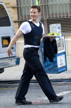 Will Estes on the set of CBS' 'Blue Bloods' in Manhattan
