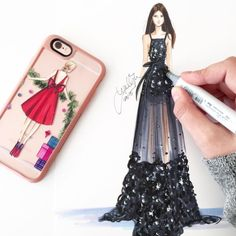 Sketch and Casetify case by Holly Nichols.