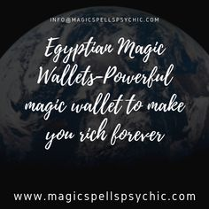 The Egyptian Magic Wallet has been around for so many years since 900 BC. Many of us think about the holes within our pockets every evening, morning and midnigh Powerful Money Spells, Money Spells That Work, Pregnancy Spells, Fertility Spells, Black Magic Love Spells, Getting Over Someone, Voodoo Spells, Holistic Healing, Say Hi