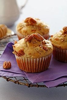 Chiquita Bananas and honey create a naturally sweet and delicious muffin accented with chopped pecans.