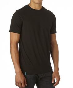 Men's Black Everyday Crew Neck Tee made with Fair Trade Certified organic cotton!  #FairTrade #organic #apparel