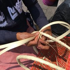 One of our Indigenous Artisans Handweaving a palm-tree leaves basket Palm Tree Leaves, Palm Trees, American Artists, Artisan, Designers, Basket, Instagram, Palm Fronds, Palm Plants