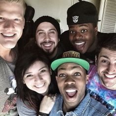 Pentatonix and Toddy. Could they get any more perfect? Kirstie is so beautiful even without makeup one... I just love them! :)