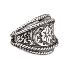 American West Cowgirl Sterling Silver Barrel Ring