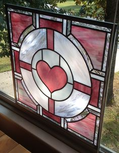 Companion Cube in Real Stained Glass heart Stained Glass Designs, Stained Glass Panels, Stained Glass Projects, Stained Glass Patterns, Stained Glass Art, Mosaic Glass, Mosaic Mirrors, Mosaic Wall, Companion Cube