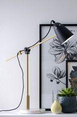 Ellos Home Bordslampa Preston Svart/mässing - Bordslampor | Ellos Mobile
