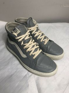 25f6f67d84 RARE Vans Sk8Hi X Diemme  Grey  Hand Made in Italy   Size 43 EU 9.5 10 US  Luxury