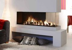 Lucius 140 Room Divider | See Through Fireplace | The Energy House