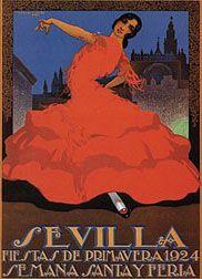 Cartel de Las Fiestas de Primavera de Sevilla 1924
