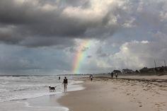 #rainbow at sunrise off the #beach at St. George Island, Florida #SGI
