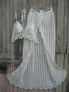 crochet Sarong Crochet Pareo Beach Bikini Cover Beach Skirt