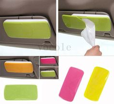 NEW auto accessories Car sun visor car Tissue Box cover holder. Why have I never seen this? It's actually useful.