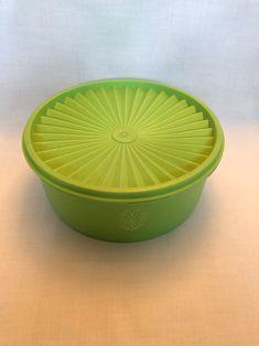 Vintage Servalier Tupperware Bowl Item 1204 Green 72 oz. | Etsy Tupperware Canisters, Tupperware Storage, Vintage Green, Etsy Store, Serving Bowls, Vintage Items, Tableware, Dinnerware, Dishes