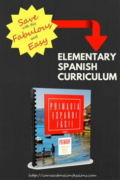 Save with this Fabulous and Easy Elementary Spanish Curriculum--It's less than $10 and includes videos and worksheets!