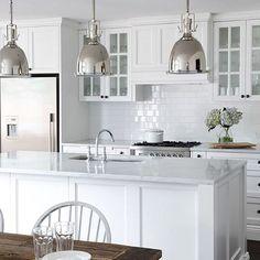 Kitchen Updating Ideas Final choice Black handles colour not style White cupboards Bench top colour Panelling - Kitchen Interior, Home Decor Kitchen, Kitchen Remodel, Kitchen Splashback Tiles, Trendy Kitchen Tile, New Kitchen, Home Kitchens, Kitchen Style, Kitchen Design