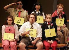At the 25th Annual Putnam County Spelling Bee...hey is that Jesse Tyler Ferguson on the far right?!