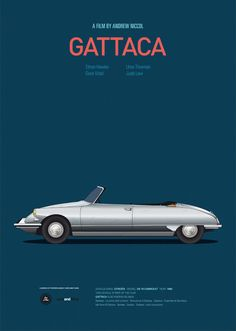 Gattaca movie poster, Citroen DS cabrio
