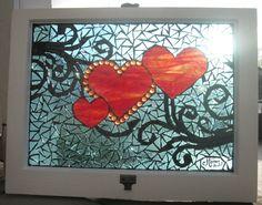 Mosaic Glass Art Windows | hearts mosaic window by ~reflectionsshattered on deviantART