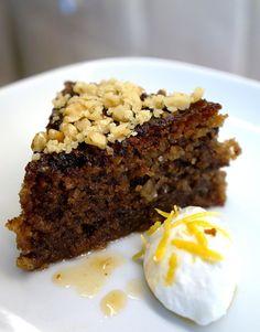 The best walnut cake recipe I've ever tasted.. (Greek walnut cake Karidopita/Karithdopita)  Made with brown breadcrumbs & walnuts.