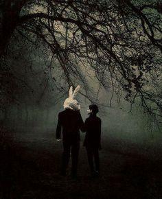 #rabbit #dark #gothic #girl #woods