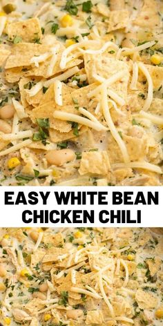 The white beans make it SO much more satisfying than chicken noodle soup, the green chilis and jalapeño add just the right amount of spice, and the sour cream adds a tangy creaminess that half-and-half could never bring. #chickenrecipes #dinner #easyrecipes #food #cooking #lunch